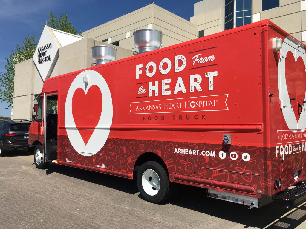 Food From the Heart Arkansas Heart Hospital Food Truck